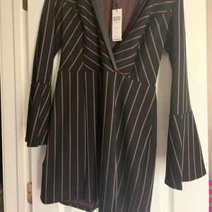 Mini blazer striped dress